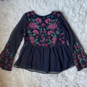 American Eagle Outfitters Floral Blouse Sz S